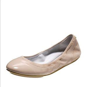Cole Haan Avery Patent Suede Nude Ballerina Flat 8